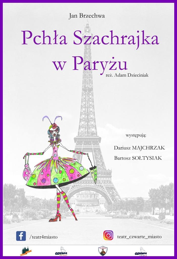 plakat Paryż PCHŁA SZACHRAJKA z logami
